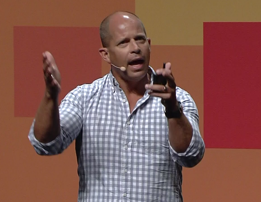 "Brad Anderson the Corporate VP for Enterprise Client & Mobility (ECM) at Microsoft Ignite 2015 on the Gold Coast speaking about the ""Intelligent Cloud"" during his keynote speech."