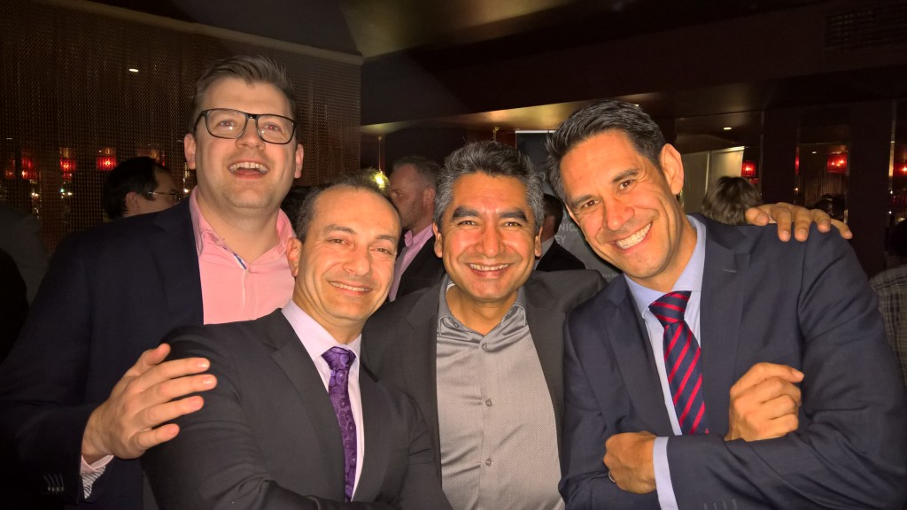 The Spanish Inquisition: (L to R) Jian Carlo Pollina (Microsoft), John Filippis (Quorum), Edgar Rumba Murgar (Microsoft) and Robert Keast (Quorum)