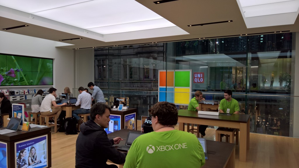 The Microsoft store and its amazing staff were our hosts today.