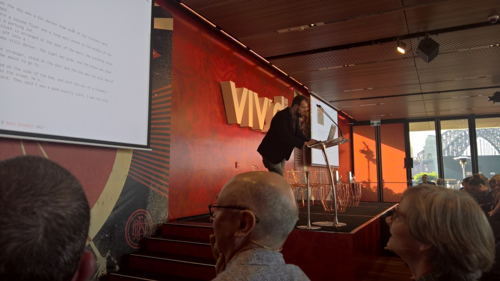 Ross Wilson takes the stage and talks to AI
