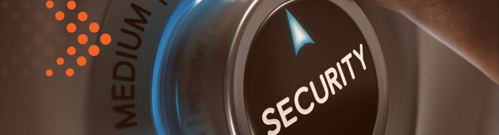 image of dial that says security, medium